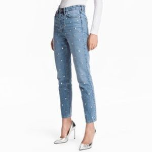 NWT H&M Vintage style studded jeans